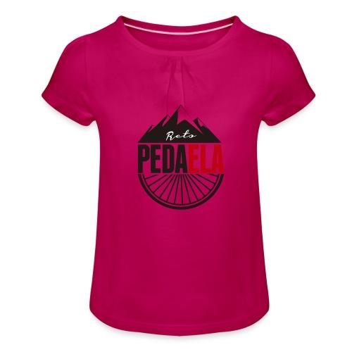 PEDAELA - Camiseta para niña con drapeado