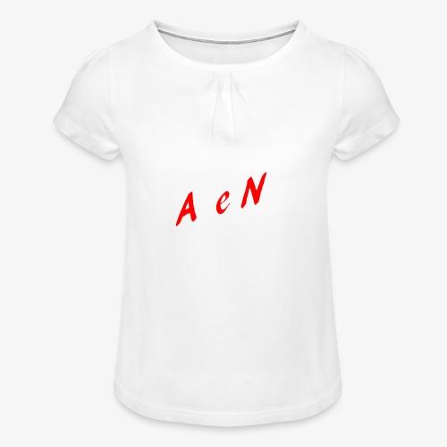 AxelNL - ROOD - Meisjes-T-shirt met plooien