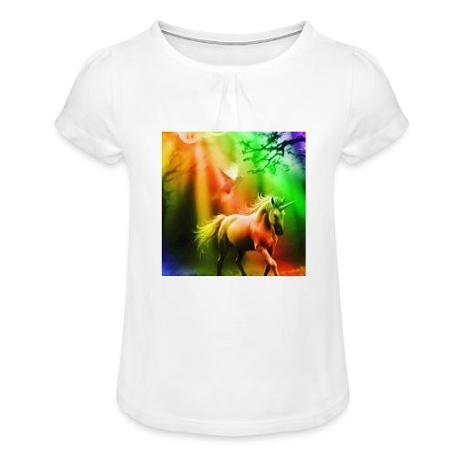 SASSY UNICORN - Girl's T-Shirt with Ruffles