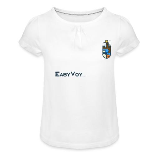 EASYVOY Original - Camiseta para niña con drapeado
