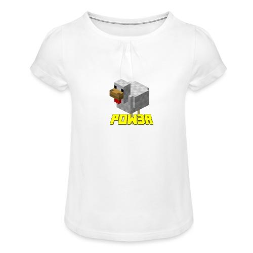 POw3r Baby - Maglietta da ragazza con arricciatura