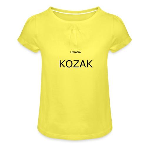 KOZAK - Koszulka dziewczęca z marszczeniami