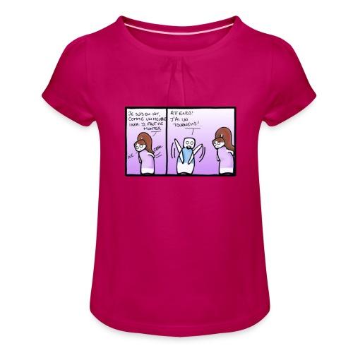 tournevis - T-shirt à fronces au col Fille