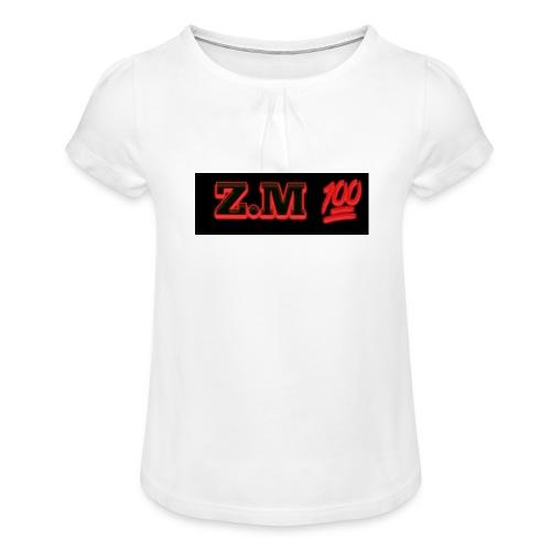 Z.M 100 - Girl's T-Shirt with Ruffles