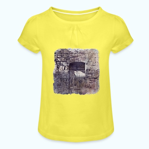Vintage monochrome - Girl's T-Shirt with Ruffles