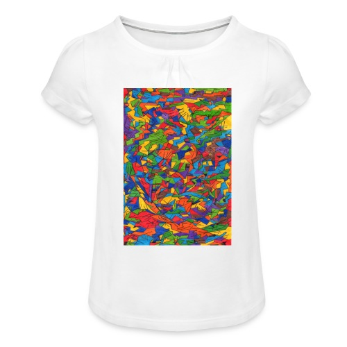 Color_Style - Camiseta para niña con drapeado