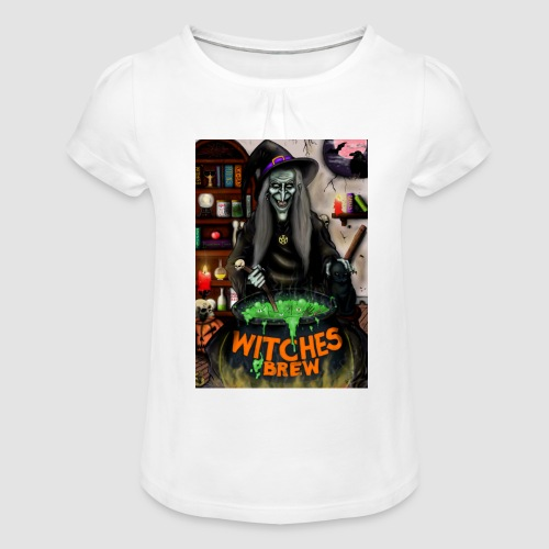 The Witch - Girl's T-Shirt with Ruffles
