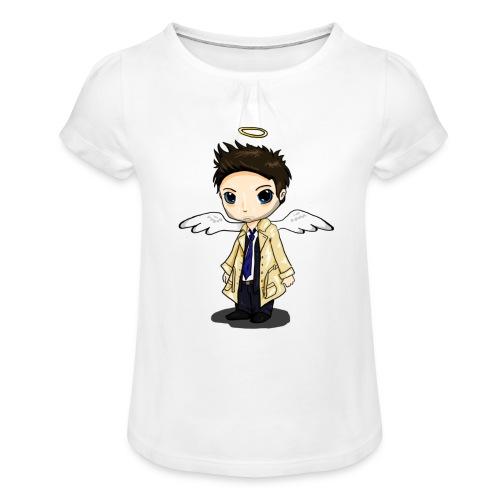 Team Castiel (dark) - Girl's T-Shirt with Ruffles