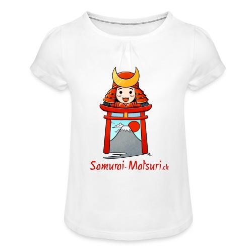 Samurai Matsuri Torii - Mädchen-T-Shirt mit Raffungen