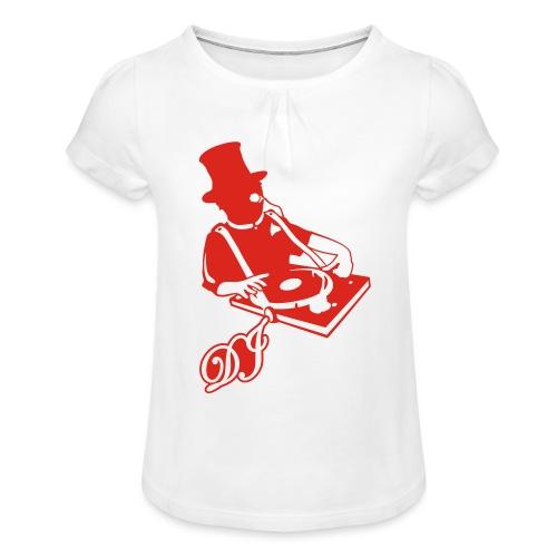 DJ Anno 1887 © forbiddenshirts.de - Mädchen-T-Shirt mit Raffungen