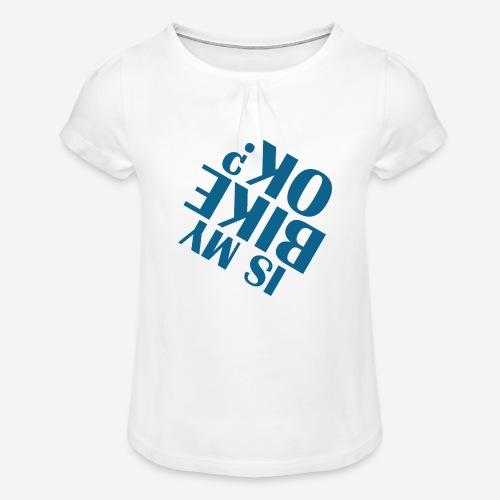 Fahrradunfall fallen - Mädchen-T-Shirt mit Raffungen