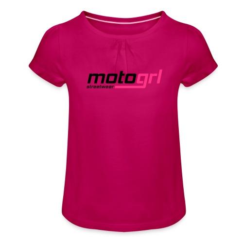 MotoGrl Streetwear - Tyttöjen t-paita, jossa rypytyksiä