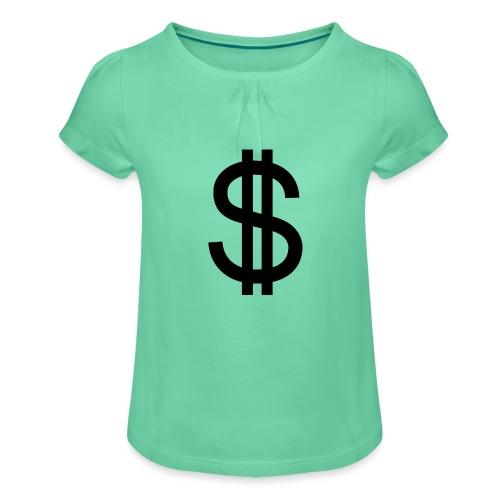 Dollar - Camiseta para niña con drapeado