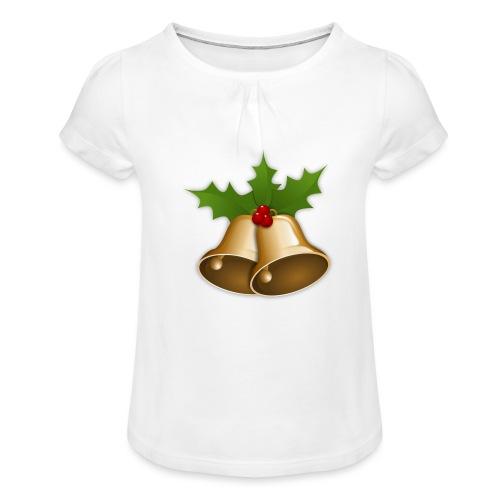 kerstttt - Meisjes-T-shirt met plooien