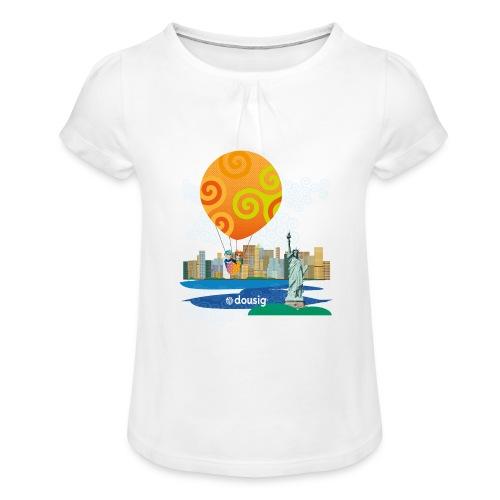 Dousig New York - T-shirt à fronces au col Fille