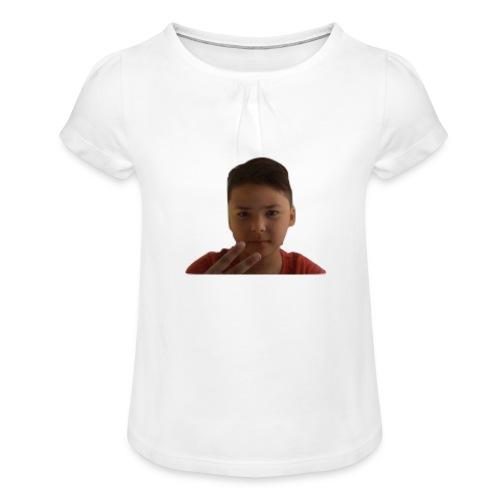 WIN 20170901 115015 burned 1 - Meisjes-T-shirt met plooien