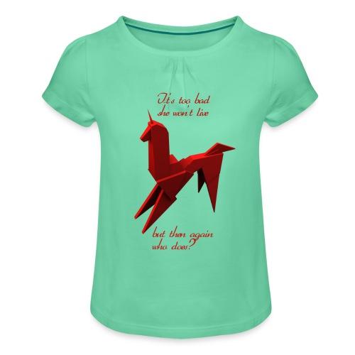 UnicornioBR2 - Camiseta para niña con drapeado