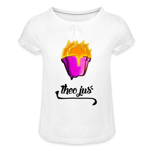LAVA CONE/TheoJus - T-shirt à fronces au col Fille