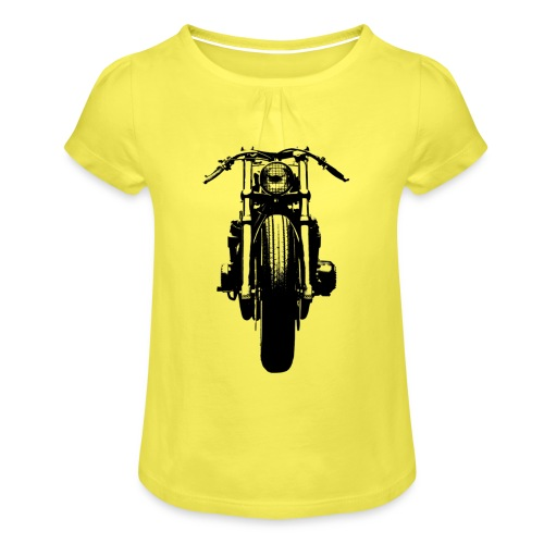 Motorcycle Front - Girl's T-Shirt with Ruffles