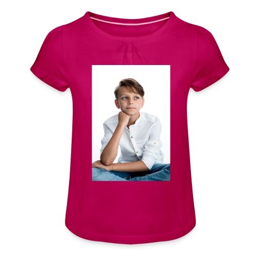 Sjonny - Meisjes-T-shirt met plooien