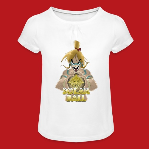 Ricco - T-shirt à fronces au col Fille