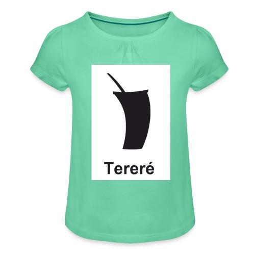 terere paraguayo - Camiseta para niña con drapeado