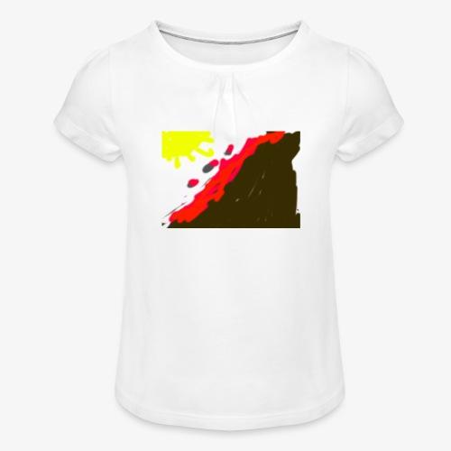 flowers - Pige T-shirt med flæser