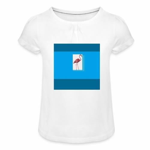 Flamingoscotteri - Maglietta da ragazza con arricciatura