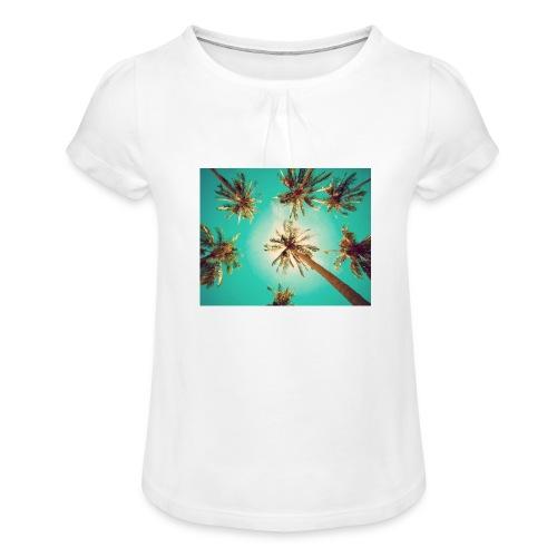 palm pinterest jpg - Girl's T-Shirt with Ruffles
