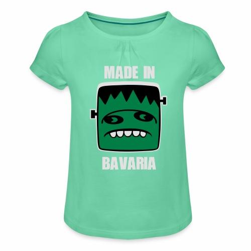 Fonster weiß made in Bavaria - Mädchen-T-Shirt mit Raffungen