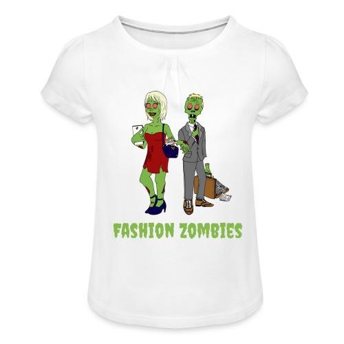 Fashion Zombie - Girl's T-Shirt with Ruffles