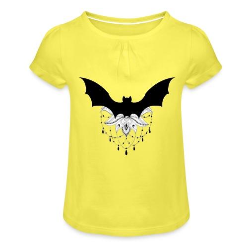 chauve-souris mandala - T-shirt à fronces au col Fille