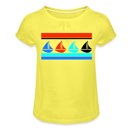 Segelboote Segelboot Segeln Maritim Boot Geschenk - Mädchen-T-Shirt mit Raffungen