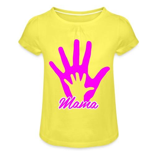 mamas hand - T-shirt à fronces au col Fille