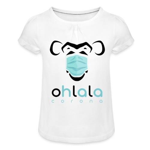 OHLALA CORONA WHITE - T-shirt à fronces au col Fille