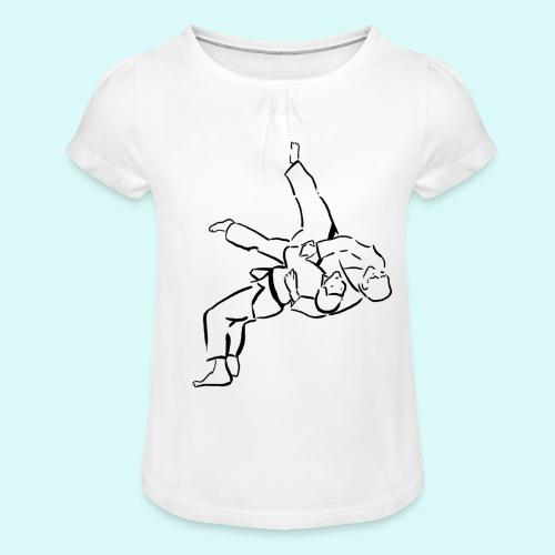 judo - T-shirt à fronces au col Fille