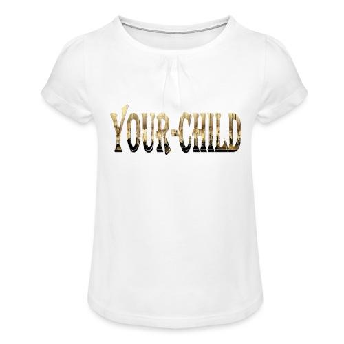 Your-Child - Pige T-shirt med flæser