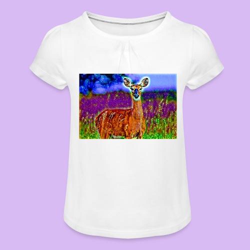 Cerbiatto con magici effetti - Maglietta da ragazza con arricciatura