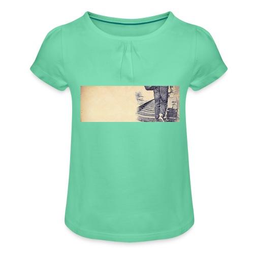 solo.pigion - T-shirt à fronces au col Fille