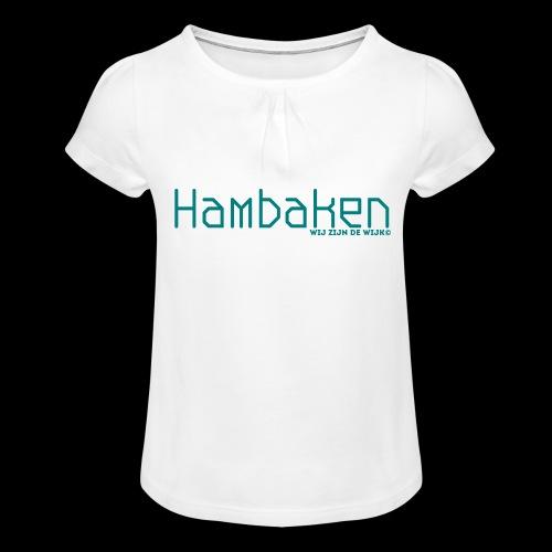Hambaken Plasmatic Regular - Meisjes-T-shirt met plooien
