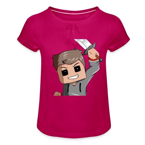 AwaZeK design - T-shirt à fronces au col Fille
