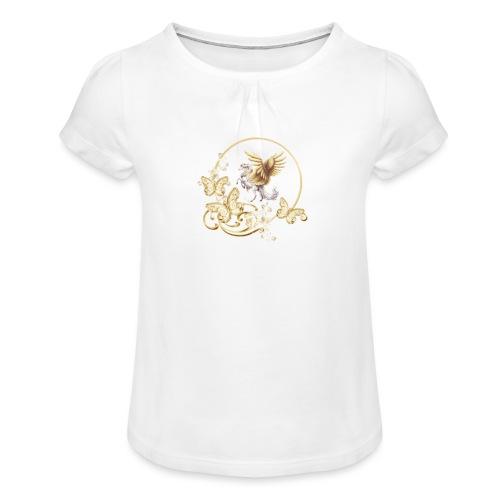 Your-Child horse - Pige T-shirt med flæser