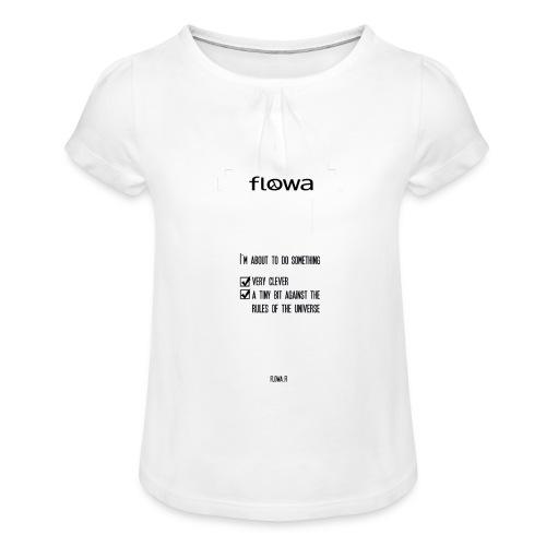 Flowa - Tyttöjen t-paita, jossa rypytyksiä
