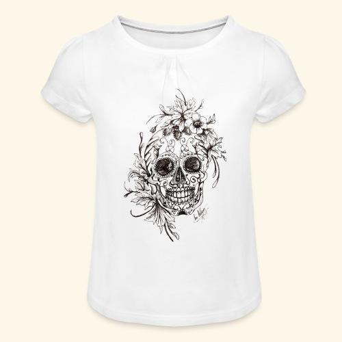 SkullDrawings - T-shirt med rynkning flicka