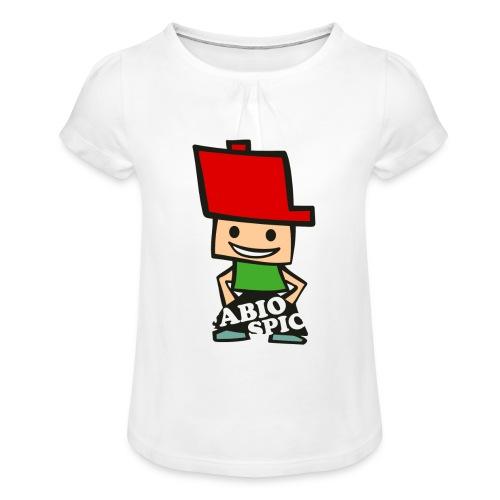 Fabio Spick - Mädchen-T-Shirt mit Raffungen