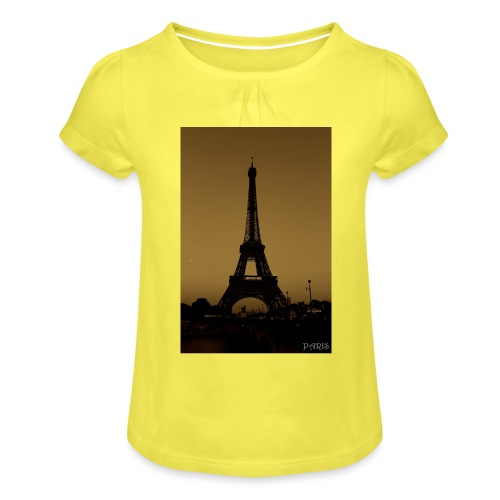 Paris - Girl's T-Shirt with Ruffles