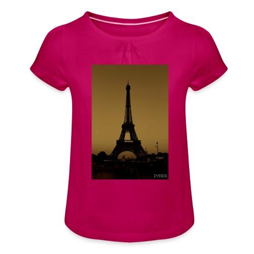 Paris - Girl's T-Shirt with Ruffles