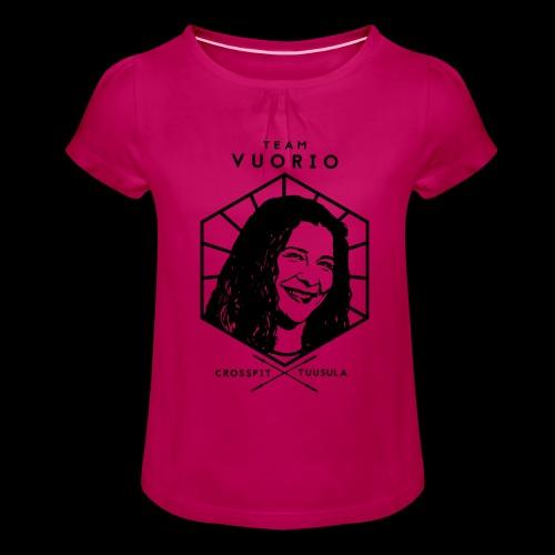 Vuorio WW 18 - Tyttöjen t-paita, jossa rypytyksiä
