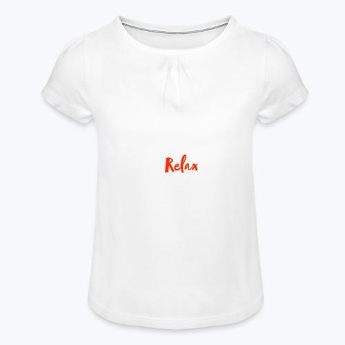 relax - T-shirt med rynkning flicka