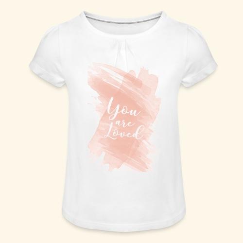 youarelove - Camiseta para niña con drapeado